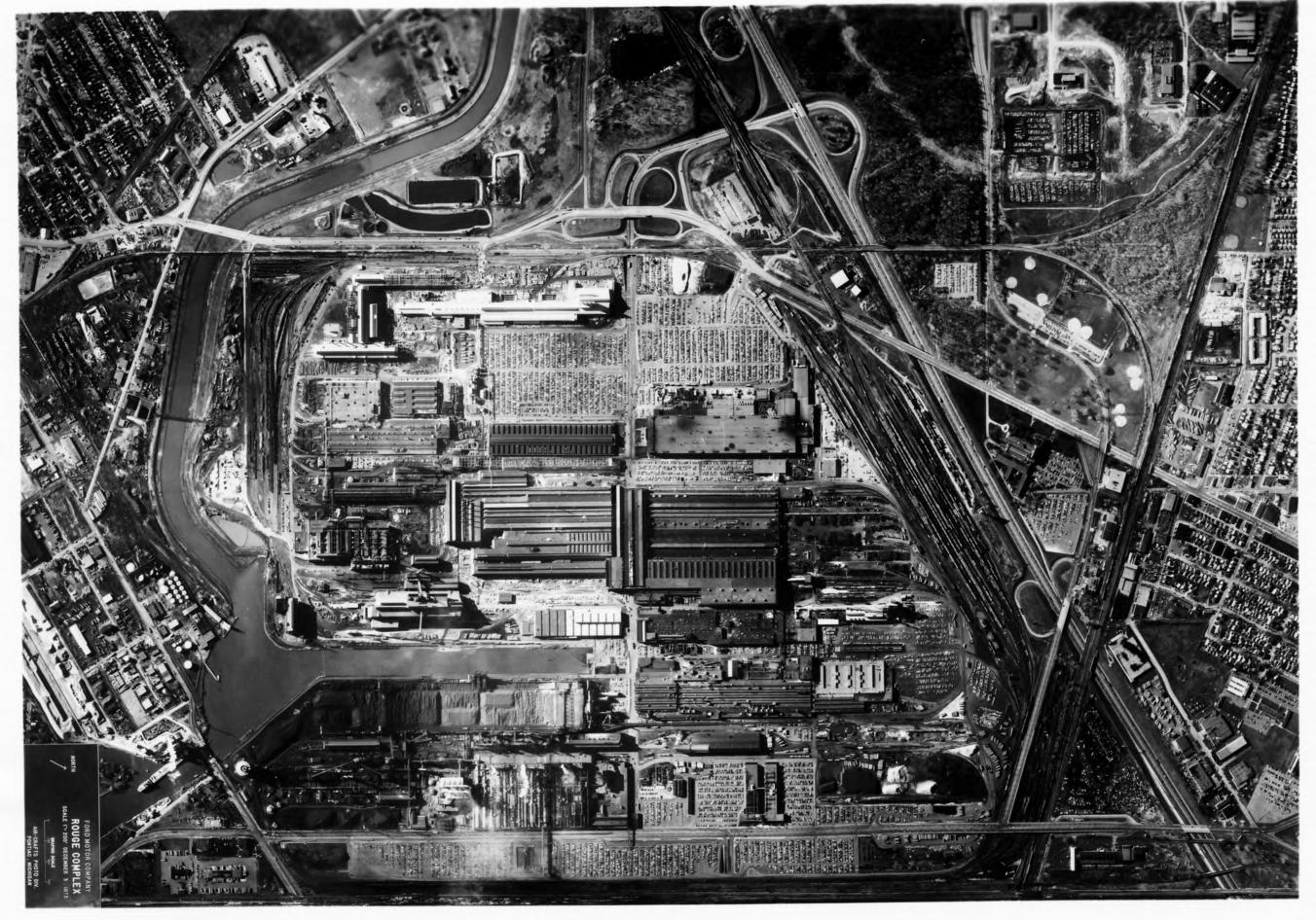 Ford River Rouge Plant Aerial view 1975